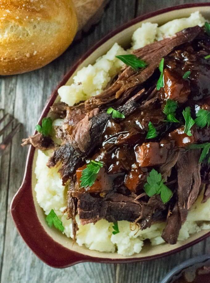Beer Braised Venison Neck