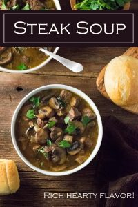Steak Soup recipe #steak #soup #beef #beer #mushrooms