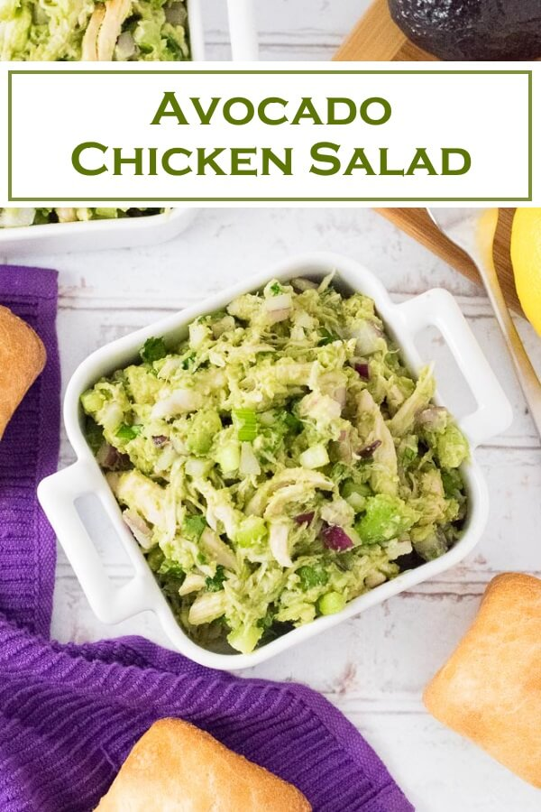Avocado Chicken Salad recipe #healthy #lunch #chicken #salad #avocado