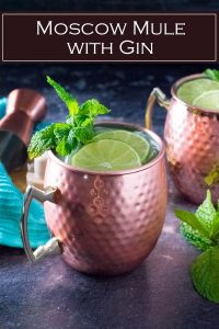 Moscow Mule with Gin recipe #cocktail #liquor #drink #gin #alcohol