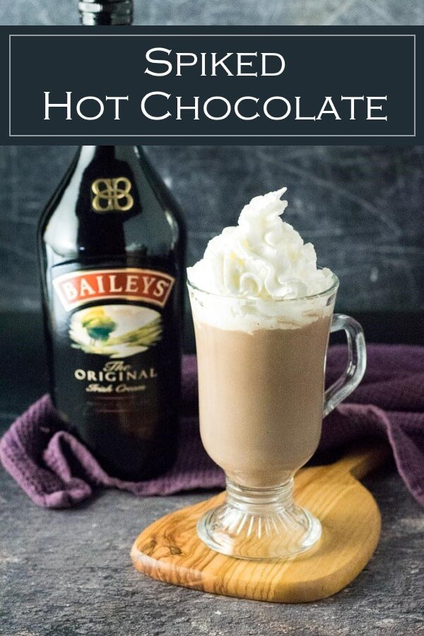 Spiked Hot Chocolate Recipe #drinks #cocktail #hotchocolate #christmas #baileys