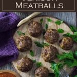 Venison Meatballs recipe #venison #wildgame #meatballs