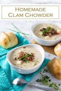 Homemade Clam Chowder recipe #seafood #chowder #soup #clams #dinner #lunch