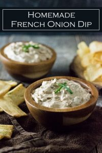 Homemade French Onion Dip recipe #appetizer #party #dip #onions