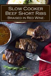 Slow Cooker Beef Short Ribs recipe #crockpot #slowcooker #beef #ribs #dinner