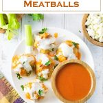 Buffalo Chicken Meatballs Recipe #meatball #chicken