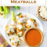 Buffalo Chicken Meatballs Recipe #meatball #chicken