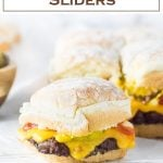 Homemade Sliders Recipe #sliders #burgers #party