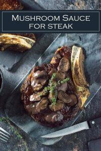 Mushroom Sauce for Steak recipe #steak #dinner