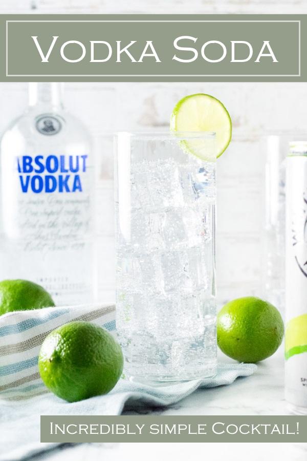 Vodka Soda cocktail #vodka #cocktail