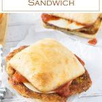 Chicken Parmesan Sandwich recipe #chicken #sandwich