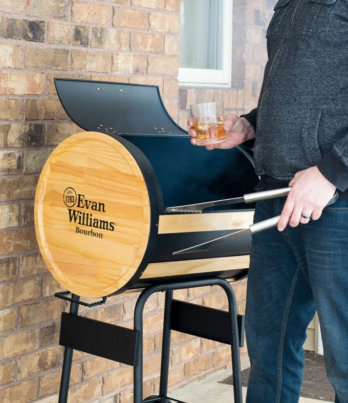 Grilling with steak and Whiskey