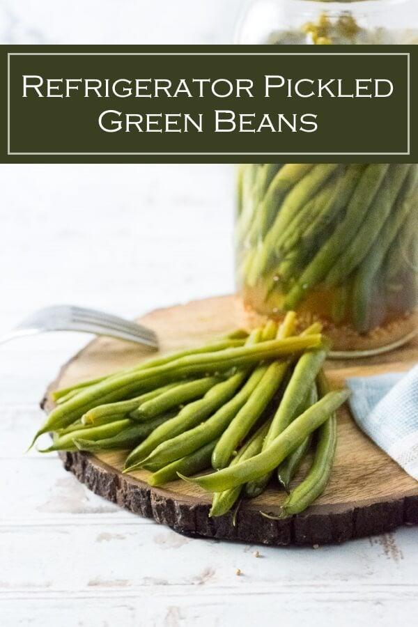 Easy Refrigerator Pickled Green Beans recipe #pickled #preservation