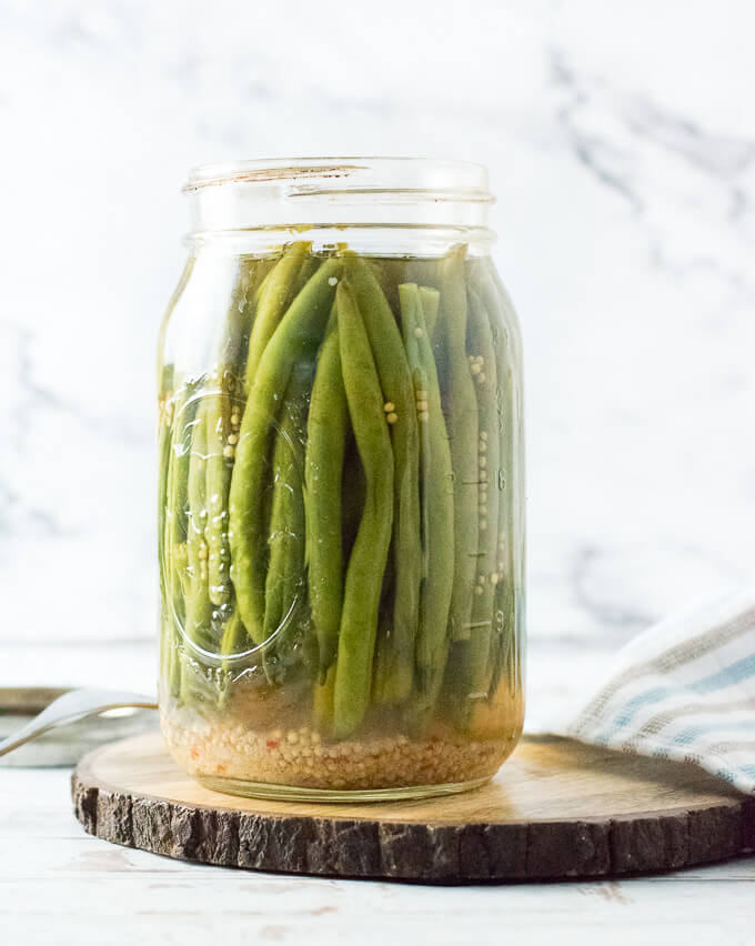 Refrigerator Pickled Green Beans recipe