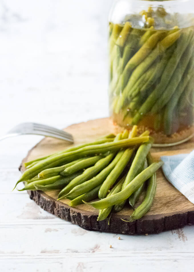 Refrigerator Pickled Green Beans