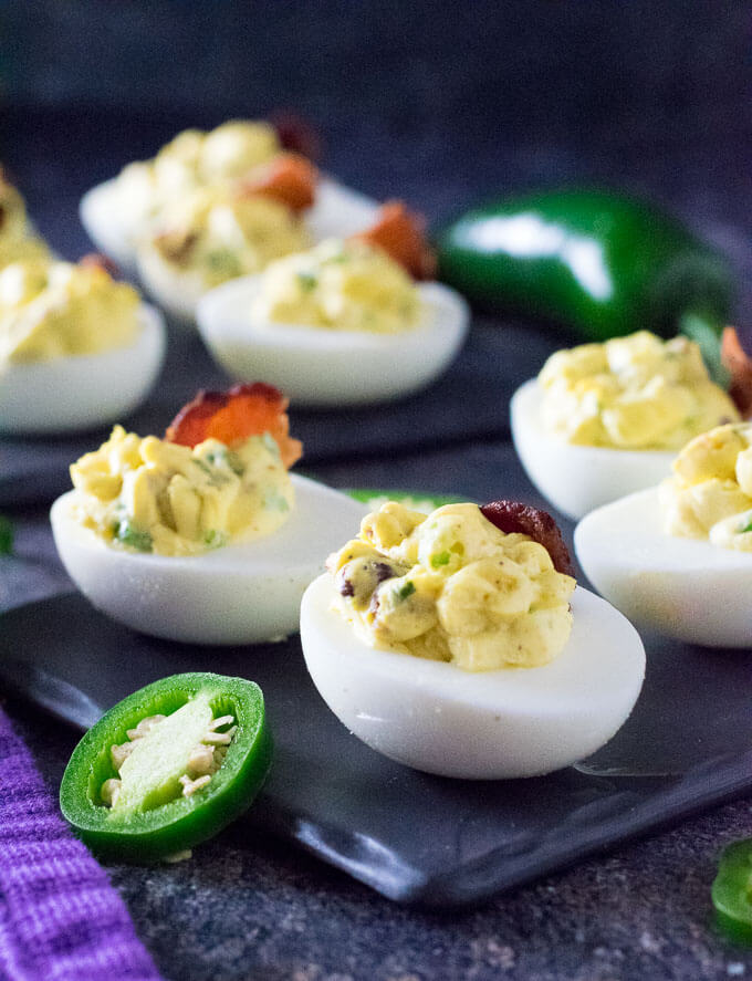 Jalapeno Deviled Eggs recipe