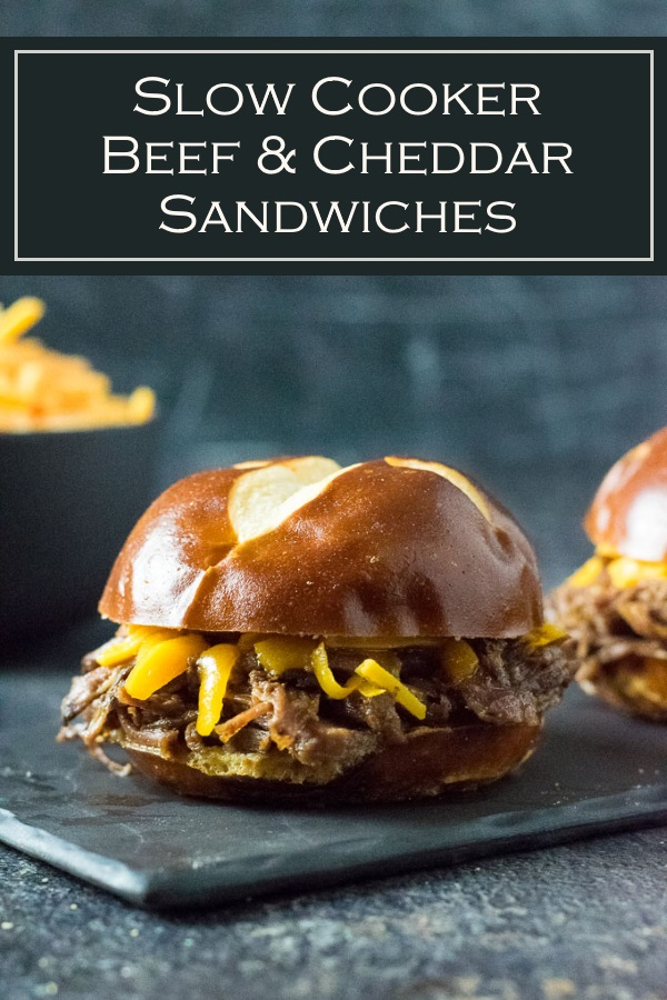 Slow Cooker Beef and Cheddar Sandwiches recipe #slowcooker #beef #sandwich