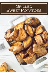 Grilled Sweet Potatoes recipe #grilled #grilling #potatoes #sidedish