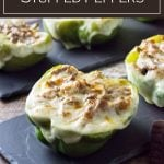Philly cheeseteak stuffed peppers #beef #dinner #cheese