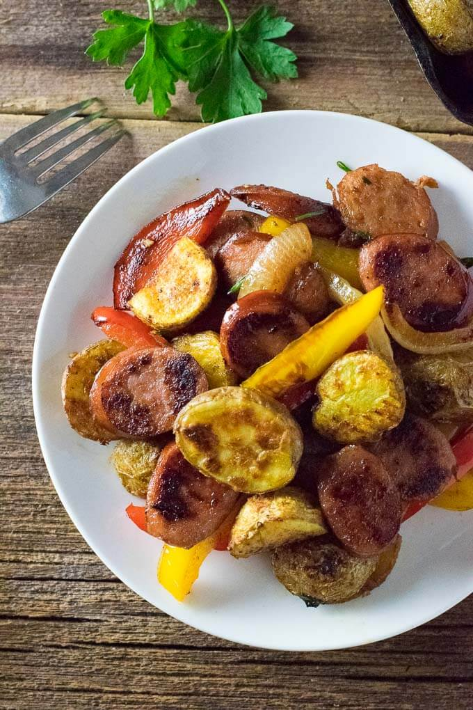 Sausage and Potatoes easy dinner