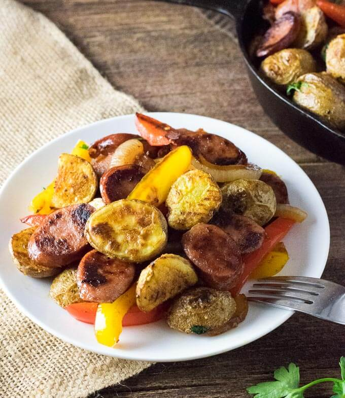 Sausage Potatoes Peppers and Onions