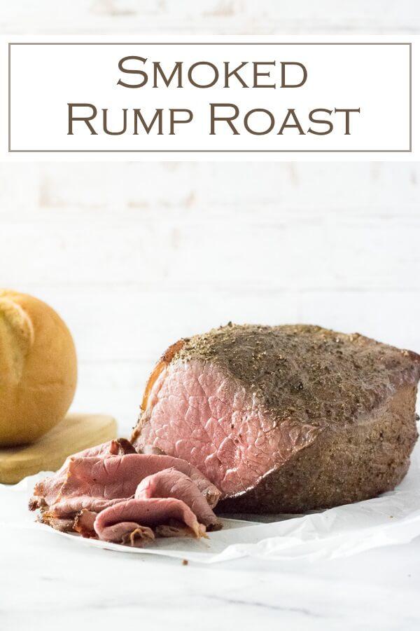 This smoked rump roast recipe makes exceptionally flavorful roast beef! #beef #smoker #roast