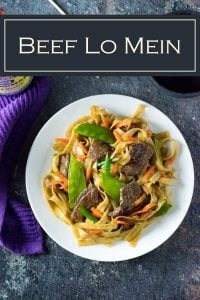 Beef lo mein is an easy Chinese takeout dish to prepare at home #asian #stirfry #beef