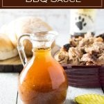North Carolina BBQ Sauce is vinegar based and perfect for pulled pork. #bbq #pork #sauce
