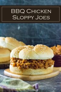 BBQ Chicken Sloppy Joes is a quick and easy family dinner. #chicken #lunch #sandwich