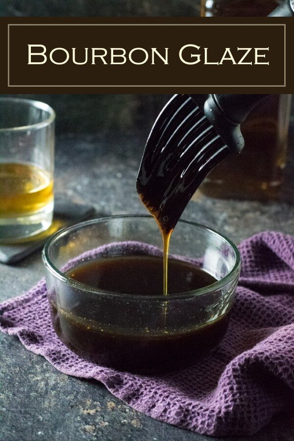 This bourbon glaze is perfect for painting on chicken, steaks, seafood, or burgers. #bourbon #whiskey #sauce