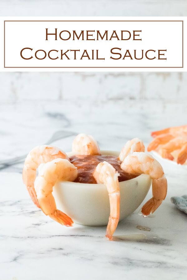Homemade cocktail sauce takes seconds to prepare! #seafood #shrimp #sauce