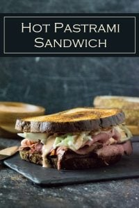 Hot pastrami sandwich recipe with coleslaw and Russian dressing #pastrami #sandwich #deli