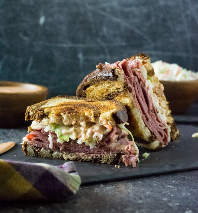 How to make hot pastrami sandwich