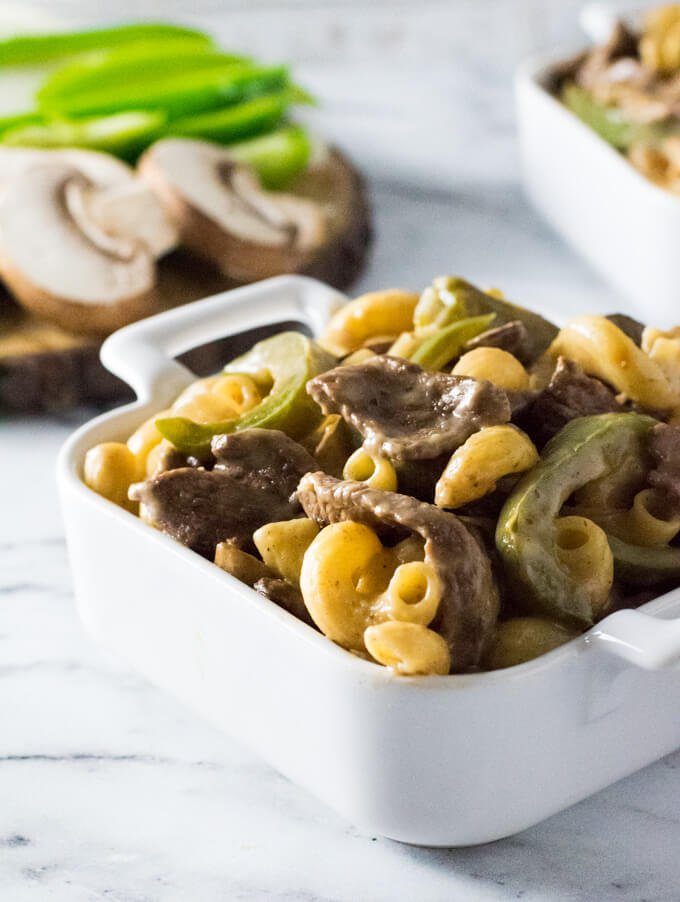How to make Philly Cheesesteak Pasta