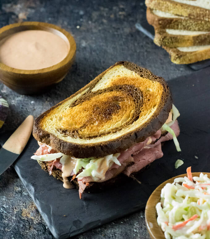 Hot pastrami sandwich toppings