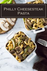 Philly cheesesteak pasta recipe #pasta #cheese #steak #beef