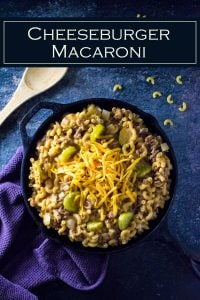 This cheeseburger macaroni recipe is an easy family dinner. #dinner #easy #beef