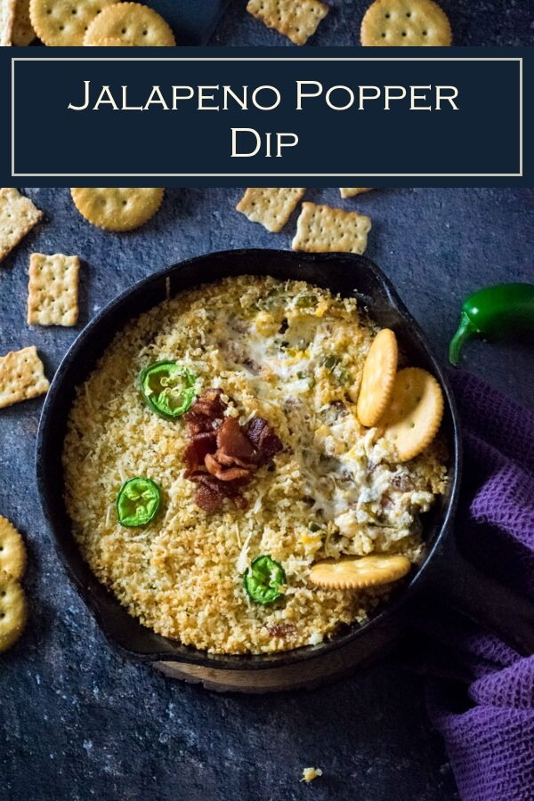 This Jalapeno Popper Dip recipe is a perfect party appetizer. #appetizer #dip #party