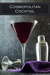 A classic cosmopolitan cocktail recipe. #cocktail #drink #liquor