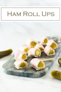 Ham roll ups are a simple party appetizer! #ham #appetizer #cheese #party