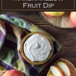 Chocolate flavored marshmallow fruit dip recipe. #fruit #dessert #dip
