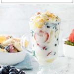 Fruit Salad with yogurt and coconut recipe #fruit #salad #yogurt