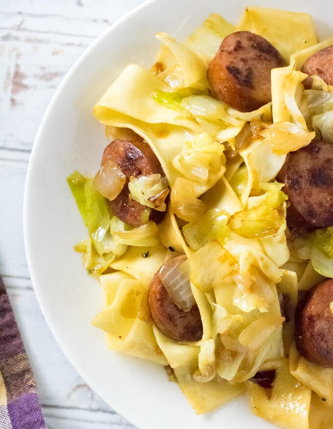 Haluski with Fried Cabbage and Noodles