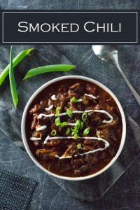 Hearty and flavorful smoked chili recipe. #chili #beef #smoked