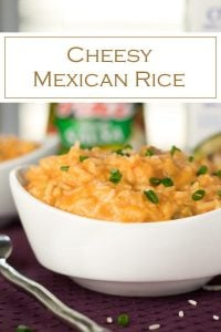 Cheesy Mexican Rice is an easy side dish to prepare. #mexican #texmex #sidedish