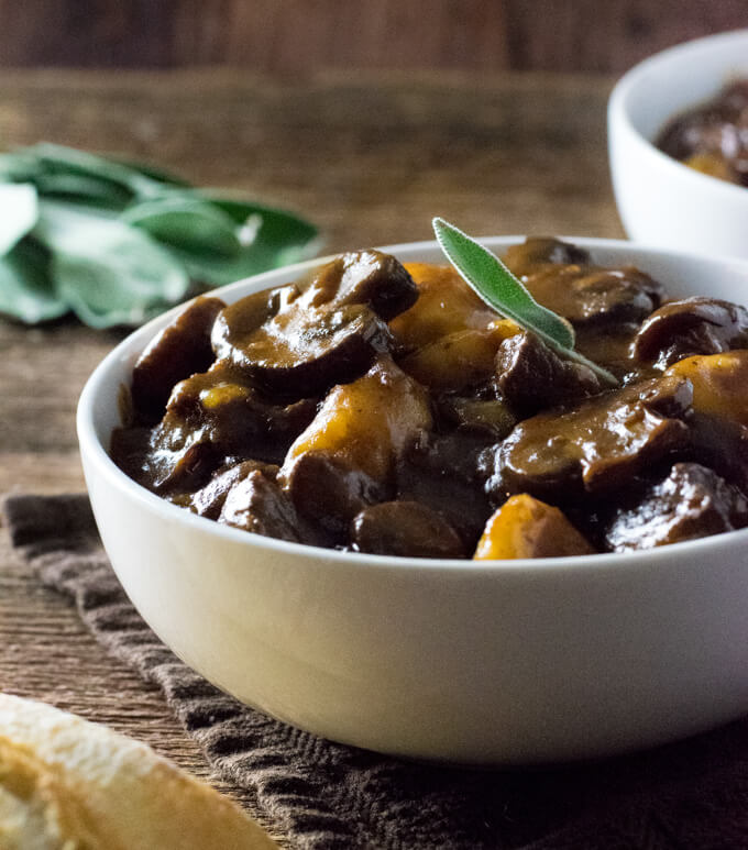 Mushroom and Beef Stew recipe
