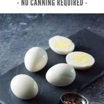 Homemade bar pickled eggs are an easy snack. #eggs #pickled #canning