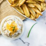 Loaded baked potato dip with wedges