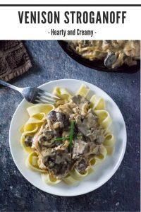 Venison stroganoff recipe #venison #deer #dinner