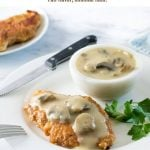 Chicken with Mushroom gravy #chicken #gravy #mushrooms